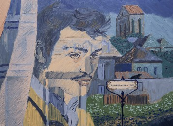 Armand Roulin (Douglas Booth) arriving in Auvers by train. Photo Courtesy of the Loving Vincent Production Team.