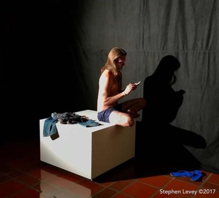 Jana Cruder @janacruder (model Aaron Sheppard). L.A. Weekly's Artopia. Photo Credit Stephen Levey