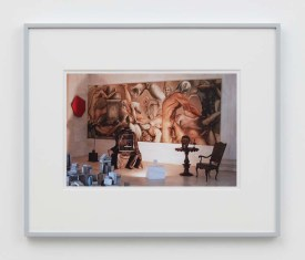 "William E. Jones ""Villa Iolas (Paul Thek, Lucio Fontana, Takis, Harold Stevenson, René Magritte, Egyptian Sculpture),"" 1982/2017 hand-coated inkjet print 16 x 20 inches (40.6 x 50.8 cm) framed: 20 x 24 x 1 1/2 inches (50.8 x 61 x 3.8 cm) Edition of 6 with 2 AP Photography: Lee Thompson Courtesy of David Kordansky Gallery, Los Angeles, CA and The Modern Institute, Glasgow, Scotland"