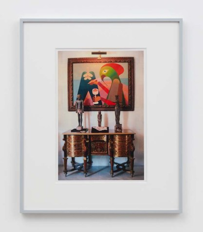 "William E. Jones ""Villa Iolas (Victor Brauner, Egyptian Sculpture),"" 1982/2017 hand-coated inkjet print 20 x 16 inches (50.8 x 40.6 cm) framed: 24 x 20 x 1 1/2 inches (61 x 50.8 x 3.8 cm) Edition of 6 with 2 AP Photography: Lee Thompson Courtesy of David Kordansky Gallery, Los Angeles, CA and The Modern Institute, Glasgow, Scotland"