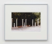 "William E. Jones ""Villa Iolas (Antiquities, Columns),"" 1982/2017 hand-coated inkjet print 16 x 20 inches (40.6 x 50.8 cm) framed: 20 x 24 x 1 1/4 inches (50.8 x 61 x 3.2 cm) Edition of 6 with 2 AP Photography: Lee Thompson Courtesy of David Kordansky Gallery, Los Angeles, CA and The Modern Institute, Glasgow, Scotland"
