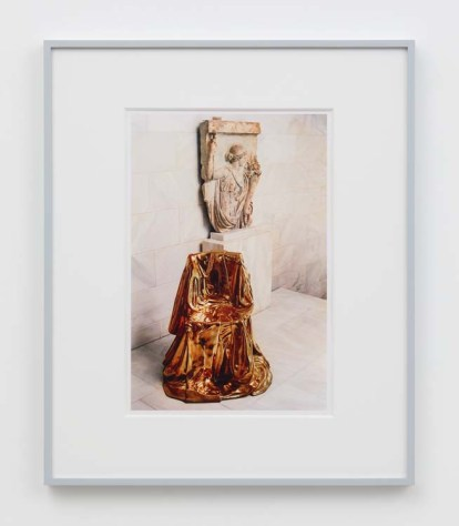 "William E. Jones ""Villa Iolas (Marina Karella, Greek Sculpture),"" 1982/2017 hand-coated inkjet print 20 x 16 inches (50.8 x 40.6 cm) framed: 24 x 20 x 1 1/2 inches (61 x 50.8 x 3.8 cm) Edition of 6 with 2 AP Photography: Lee Thompson Courtesy of David Kordansky Gallery, Los Angeles, CA and The Modern Institute, Glasgow, Scotland"