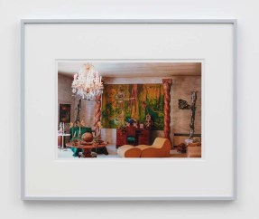 "William E. Jones ""Villa Iolas (Matta, Les Lalannes, Yves Klein),"" 1982/2017 hand-coated inkjet print 16 x 20 inches (40.6 x 50.8 cm) framed: 20 x 24 x 1 1/2 inches (50.8 x 61 x 3.8 cm) Edition of 6 with 2 AP Photography: Lee Thompson Courtesy of David Kordansky Gallery, Los Angeles, CA and The Modern Institute, Glasgow, Scotland"