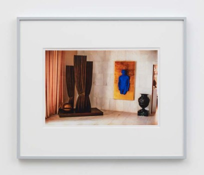 "William E. Jones ""Villa Iolas (René Magritte, Yves Klein, Man Ray),"" 1982/2017 hand-coated inkjet print 16 x 20 inches (40.6 x 50.8 cm) framed: 20 x 24 x 1 1/2 inches (50.8 x 61 x 3.8 cm) Edition of 6 with 2 AP Photography: Lee Thompson Courtesy of David Kordansky Gallery, Los Angeles, CA and The Modern Institute, Glasgow, Scotland"