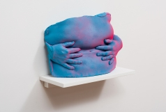 Janine Oleson: Can you feel it? Xallarap, 2017, plaster, acrylic paint, 12 ½ x 17 ½ x 6 ¼ inches. Courtesy the artist and Commonwealth and Council. Photo by Ruben Diaz