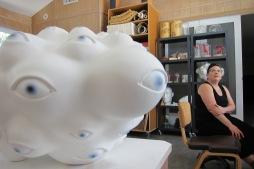 Tanya Batura. Studio visit by Gary Brewer. Photo Credit Gary Brewer
