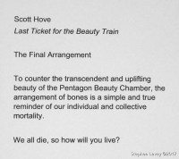 """Scott Hove. """"Last Ticket for the Beauty Train."""" Photo credit Stephen Levey"""