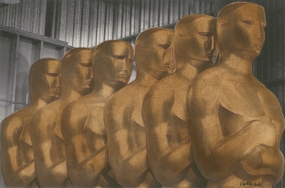 MEAM Brown Oscars. Linda Vallejo. Keepin' it Brown. Photo Courtesy of bG Gallery.