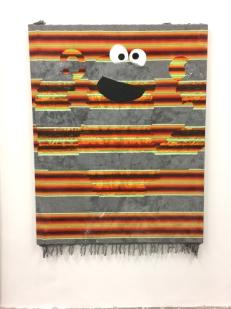 Katie Herzog C is for Cookie (2011) Acrylic on textile. Supercaliforniagilisticexpialibodcious. Human Resources. Photo Credit Lorraine Heitzman.