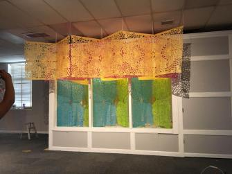 SUR Installation at Whittier. Rosalie Lopez. Pacific Standard Time: LA/LA. Photo Credit Lydia Espinoza.