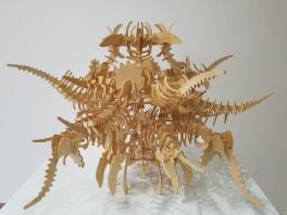 Ephraim Puusemp SEPULTURE-SCULPTURE II. Conceptual Craft at DENK Gallery. Photo Credit Jacqueline Bell Johnson.