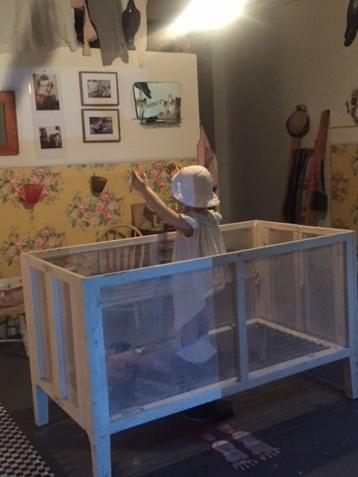"""Two Women, One Reality"" Installation by Bibi Davidson & Dwora Fried. Shoebox Projects. Photo Credit Betty Brown"
