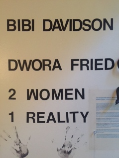"""Two Women, One Reality"" Installation by Bibi Davidson & Dwora Fried. Shoebox Projects. Photo Credit Betty Brown"