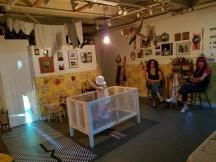 """Two Women, One Reality"" Installation by Bibi Davidson & Dwora Fried. Shoebox Projects. Photo Credit Kristine Schomaker"