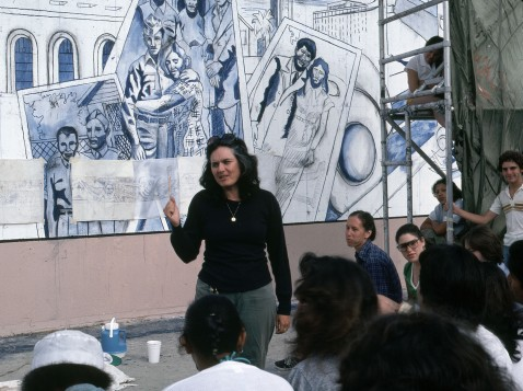 The Great Wall of Los Angeles: Judith F. Baca's Experimentations in Collaboration and Concrete. CSUN Art Gallery. Photo Credit Erika Ostrander.
