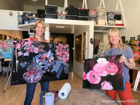 Anna Stump and Daphne Hill. Brewery Artwalk and Open Studios Fall 2017. Photo Credit Stephen Levey