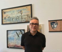 Albert Valdez. Brewery Artwalk and Open Studios Fall 2017. Photo Credit Stephen Levey