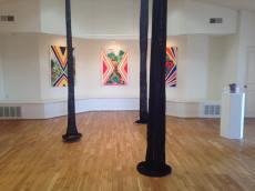 Installation view. TANKAH: De las Tinieblas Hacia el Sol/From The Underworld To The Sun. McNish Gallery at Oxnard College. Photo Credit Eve Wood