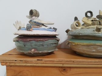 Jared Pankin 13 Jars to Put Your Weed In. Conceptual Craft at DENK Gallery. Photo Credit Jacqueline Bell Johnson.