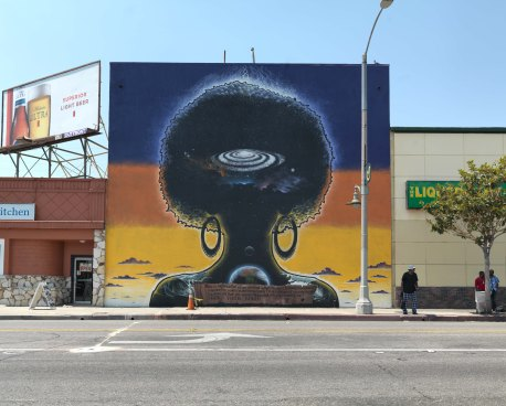 Ken Gonzales-Day. Surface Tension: Murals, Signs, and Mark-Making in LA. Photo Courtesy of the Skirball Cultural Center.