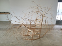 Pontus Willfors Rocking Chair. Conceptual Craft at DENK Gallery. Photo Credit Jacqueline Bell Johnson.