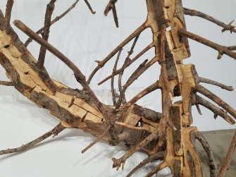 Tim Hawkinson Tree Chain. Conceptual Craft at DENK Gallery. Photo Credit Jacqueline Bell Johnson.