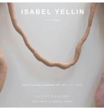 Isabel Yellin. Photo Courtesy of Night Gallery.