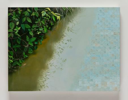 """Astrid Preston River's Edge, 2016, oil on canvas, 18 x 24"""", Courtesy of Astrid Preston and Craig Krull Gallery, Santa Monica, CA."""