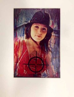 Radical Women: Latin American Art, 1960-1985, Hammer Museum, Los Angeles. Isabel Castro (American, b. Mexico, 1954), from the series Women under Fire, 1980. Mixed media, scratched and dyed slides printed on Xerox. Sheet: 10 × 6 1/2 in. (25.4 × 16.5 cm); mat: 14 1/2 × 18 in (36.8 × 45.7 cm). Collection of Isabel Castro. ©the artist. Photo by Jeff McLane.
