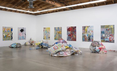 "Kim Dingle ""CRUSH,"" Installation View. Susanne Vielmetter Los Angeles Projects. Photo credit: Robert Wedemeyer."