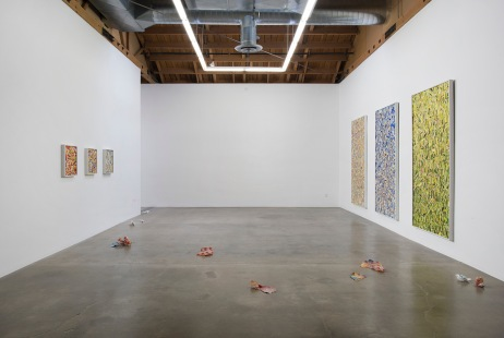 "Kim Dingle ""HOME DEPOT COLORING BOOKS,"" Installation View. Susanne Vielmetter Los Angeles Projects. Photo credit: Robert Wedemeyer."