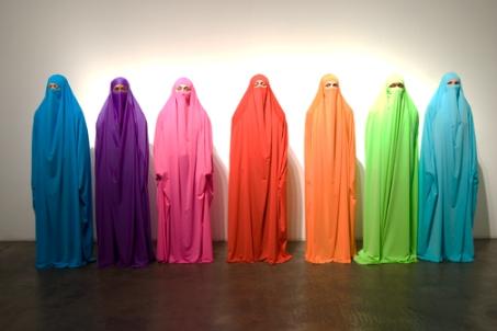 "HK Zamani. Fashion Of The Veil, 2017, digital print on vinyl, 120"" x 180"""