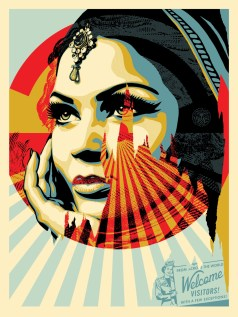 Target Exceptions. Shepard Fairey: Damaged. Presented by Obey Giant and Library Street Collective at Werkartz. Photo Courtesy of the Gallery.