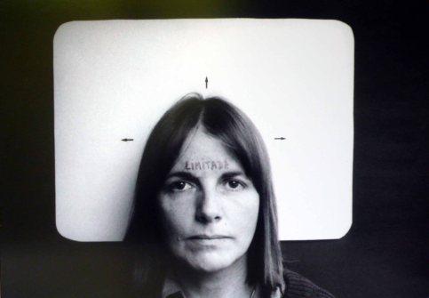 Radical Women: Latin American Art, 1960-1985, Hammer Museum, Los Angeles. Marie Orensanz (Argentine, b. 1936), Limitada (Limited), 1978/2013. Black-and-white photograph. 13 3/4 × 19 11/16 in. (35 × 50 cm). Collection of Marie Orensanz; courtesy Alejandra von Hartz Gallery. ©the artist.