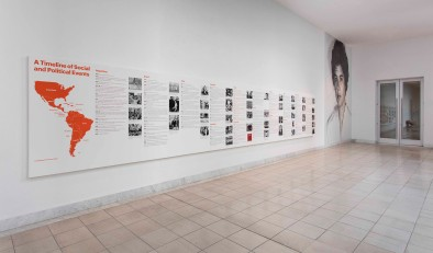 Radical Women: Latin American Art, 1960-1985, A Timeline of Social and Political Events. Hammer Museum, Los Angeles, September 15 - December 31, 2017. Photo: Brian Forrest.