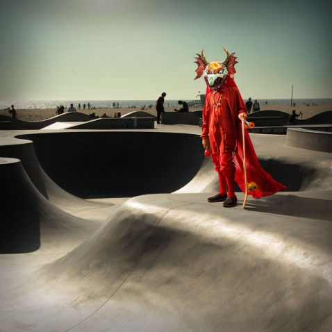 Solo (at venice skate park). Cristobal Valecillos. Yare: One More Dance. Timothy Yarger Fine Art. Photo Courtesy of the Gallery.