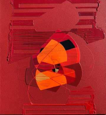 "Alex Couwenberg. Tantrum, 2011. Acrylic on canvas. 32 x 30"". Southern California Art Projects and Exhibitions. Photo Courtesy of SCAPE"