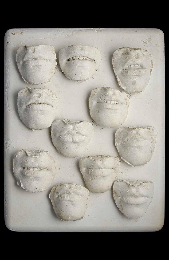 Radical Women: Latin American Art, 1960-1985, Hammer Museum, Los Angeles. Amelia Toledo (Brazilian, b. 1926), Sorriso do menina (Girl's smile), 1976. Mold in plaster. 16 9/16 × 13 × 3 1/8 in. (42 × 33 × 8 cm). Collection of Fernando and Camila Abdalla. ©the artist.