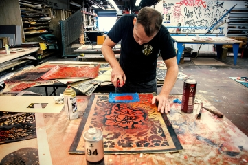 Shepard Fairey: Damaged. Presented by Obey Giant and Library Street Collective at Werkartz. Photo Courtesy of the Gallery.