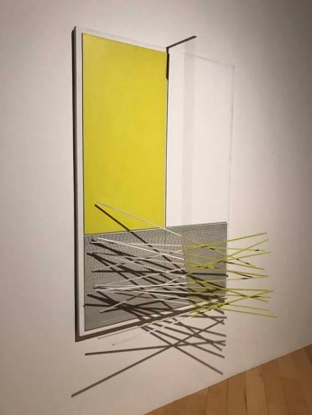 Jesus Rafael Soto 'Yellow and White Bars and Rectangles' Photo Credit: Mario Vasquez.