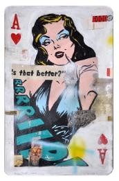 "Greg Miller, ""A"" Heart/Is that better. Photo Courtesy of JoAnne Artman Gallery."