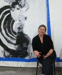 Rebecca Farr in her studio. Photo Credit: Gary Brewer.