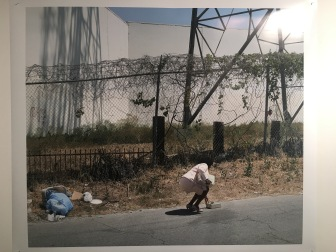 Sean Sprague at UCLA MFA Open Studios. Photo Credit: Chelsea Boxwell.