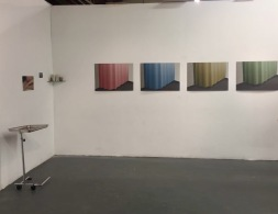 Beaux Mendes in group show at UCLA MFA Open Studios. Photo Credit: Chelsea Boxwell.