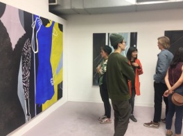 Hiejin Yoo at UCLA MFA Open Studios. Photo Credit: Chelsea Boxwell.