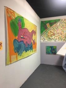 Ari Salka at UCLA MFA Open Studios. Photo Credit: Chelsea Boxwell.