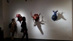Brooke Weston artworks. Sacrificial Lamb. Lethal Amounts Gallery. Photo Credit Jennifer Susan Jones