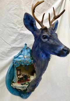 """Cirque Bleu"" by Brooke Weston. Sacrificial Lamb. Lethal Amounts Gallery. Photo Credit Jennifer Susan Jones"