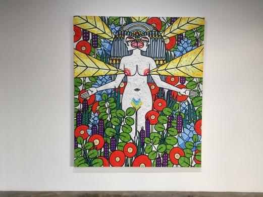 Helen Rebekah Garber, Sentinel Spring (detail) at DENK Gallery. Photo Credit Shana Nys Dambrot.