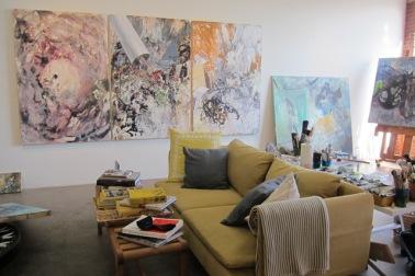 Fatemah Burns' studio, photo credit: Gary Brewer.